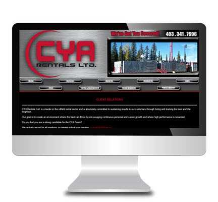 central alberta web development client portfolio websites 123